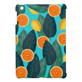 lemons and oranges teal iPad mini covers