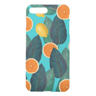 lemons and oranges teal iPhone 8 plus/7 plus case