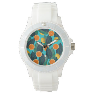 lemons and oranges teal watch