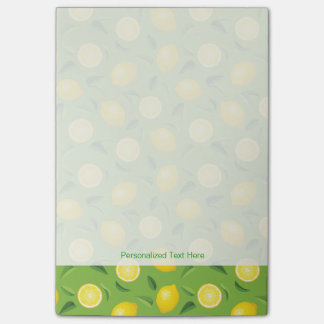 Lemons Background Pattern Post-it Notes