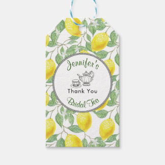 Lemons Branch and Tea Bridal Shower Thank You Gift Tags