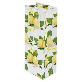 Lemons Citrus Fruit Botanical Wine Gift Bag