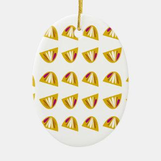 Lemons design gold ceramic ornament