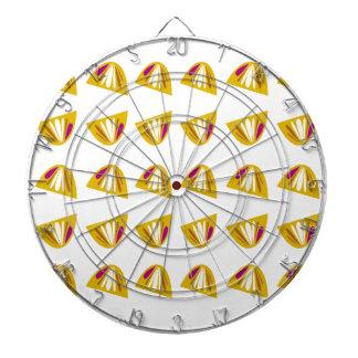Lemons design gold dartboard