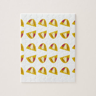 Lemons design gold jigsaw puzzle