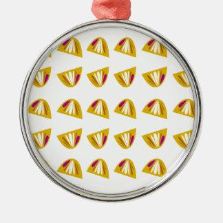 Lemons design gold metal ornament