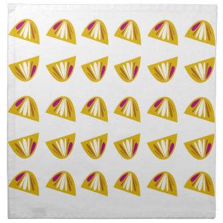 Lemons design gold napkin