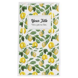 Lemons, illustration. Personalisierbar. Small Gift Bag