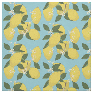 Lemons in Repeated Pattern Fabric