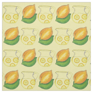Lemons Limes Lemonade Citrus Fruit Yellow Fabric