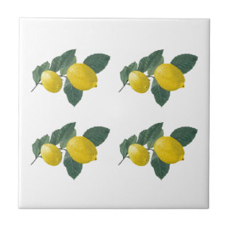 Lemons on a branch tile