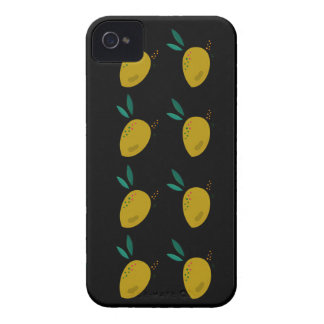 LEMONS ON BLACK iPhone 4 COVERS
