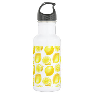 Lemons pattern design 532 ml water bottle