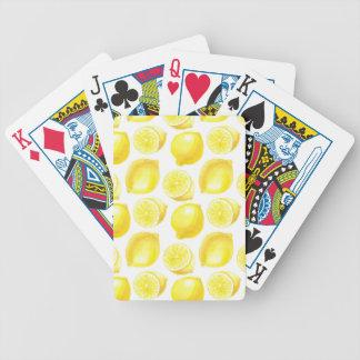 Lemons pattern design bicycle playing cards