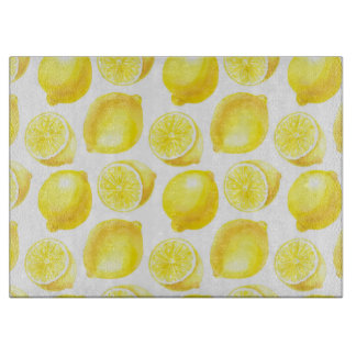 Lemons pattern design boards