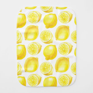 Lemons pattern design burp cloth