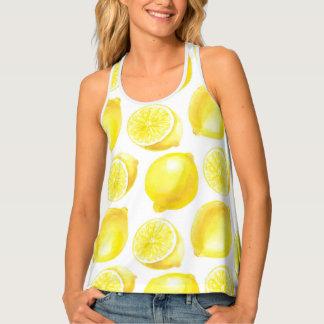 Lemons pattern design tank top