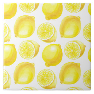 Lemons pattern design tile