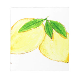 Lemons print Yellow Fruits Notepad
