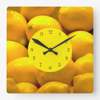 Lemons Theme Kitchen Wall Clocks