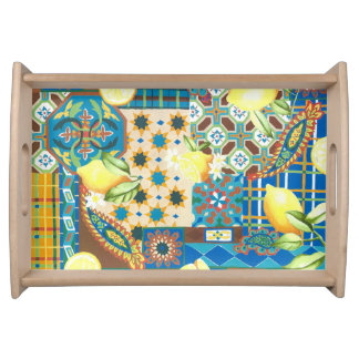 Lemons & Tiles Serving Tray