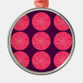 Lemons with wine slices metal ornament
