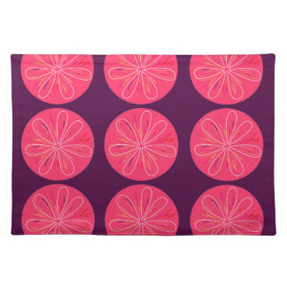 Lemons with wine slices placemat