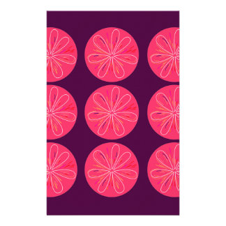 Lemons with wine slices stationery
