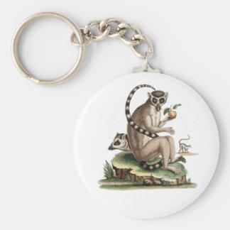 Lemur Artwork Keychain