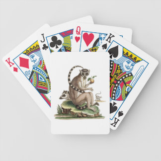 Lemur Artwork Poker Deck