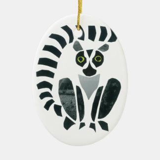 Lemur Ceramic Ornament