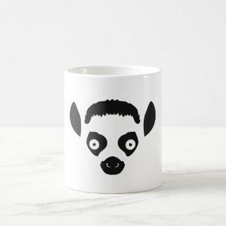Lemur Face Silhouette Coffee Mug
