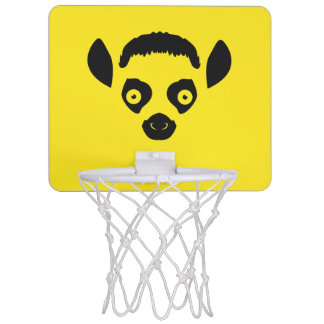 Lemur Face Silhouette Mini Basketball Hoop