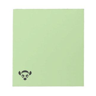 Lemur Face Silhouette Notepad
