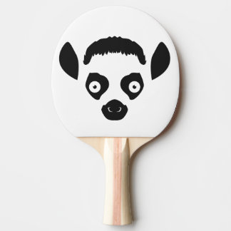 Lemur Face Silhouette Ping Pong Paddle