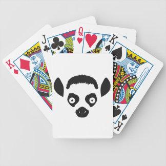 Lemur Face Silhouette Poker Deck