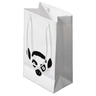 Lemur Face Silhouette Small Gift Bag
