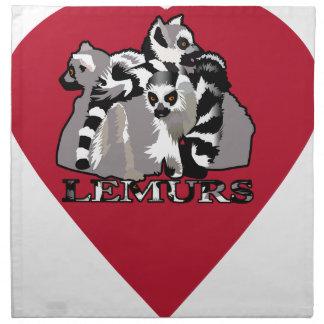 Lemur Mug Napkin