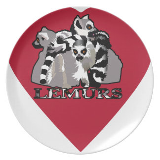 Lemur Mug Plate