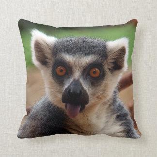 Lemur Throw Pillow