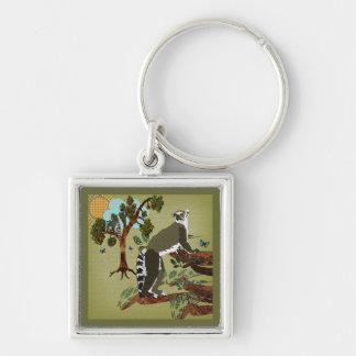Lemurs Olive Morning Keychain