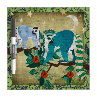 Lemurs Shooting Stars  Dry Erase Board