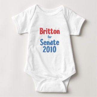 Len Britton for Senate 2010 Star Design Baby Bodysuit