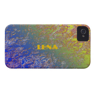 Lena Blue and Yellow iPhone 4 case