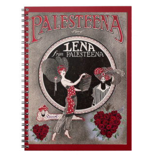 Lena from Palesteena noteook Spiral Note Book