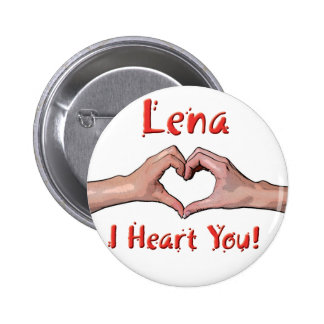 Lena - I Heart You! 2 Inch Round Button