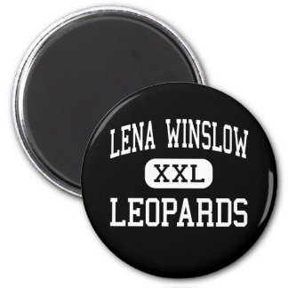 Lena Winslow - Leopards - Junior - Lena Illinois 2 Inch Round Magnet