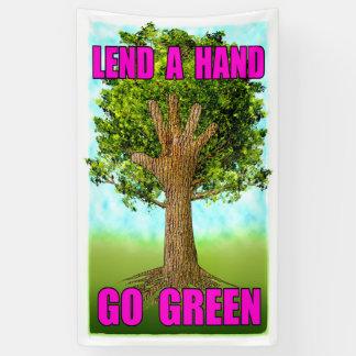 Lend A Hand - Go Green Banner