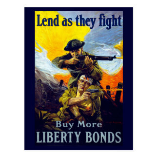 Lend as They Fight ~ Buy More Liberty Bonds Postcard