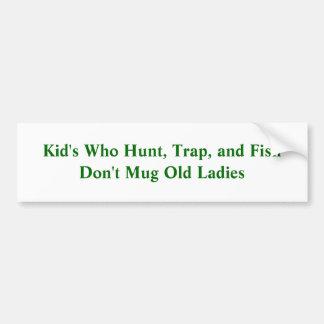 L'enfant qui chassent, emprisonnent, et les poisso autocollant de voiture
